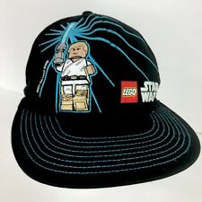 STAR WARS LEGO Skywalk Black Skater Baseball Hat Cap Elastic Back Boys Size 4 16