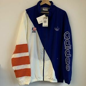 Vtg NWT Adidas USA Olympic Boxing Windbreaker Jacket XL