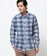 Billabong Men Bleeker Blue Flannel Shirt Sz Large Long Sleeve