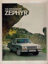MERCURY Zephyr 1979 Stati Uniti del mercato delle vendite BROCHURE Berlina ES GHIA Z-7 CARRO Villager