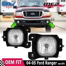 Winjet 2004-2005 Ford Ranger OE Replacement Bumper Fog Lights Clear Lens DOT