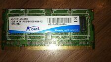 ADATA RAM 1GB 1RX8 PC2-6400s-666-12 Barrette Mémoire Ordinateur