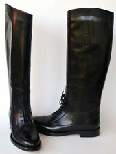 GUCCI New sz 36.5 - 6.5 Designer Riding Black Leather Womens Boots Shoes $1150