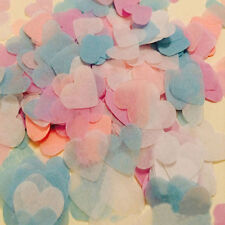 1000 Pcs Biodegradable Rainbow Heart Paper Confetti Wedding Party Decor Eager