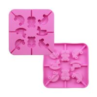 Mini Car, Teddy Bear & Rocking Horse 3D Silicone Lollipop Mould & Sticks Kit