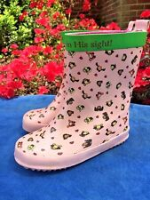 JESUS LOVES THE LITTLE CHILDREN Vineyard Vines PINK RAIN BOOTS Shoe Girls Sz 9 T