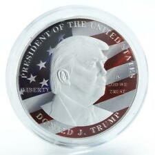 45th US President Donald Trump America Flag color silvering token