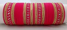 Bollywood India Ethnic 48pcs Neon Pink Colored  Bridal Bangles Set Jewelry 2.8.