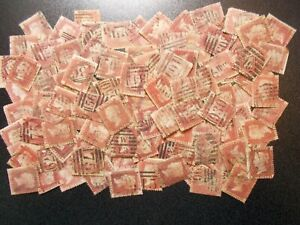 GB~1858~100~x~QV~1d Red Plates~Seconds~Spacefillers~SG43~Lot  AL~ UK Seller