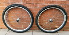 "VGC Retro Mavic XC717 rims Shimano XT M765 26"" XC disc wheelset front rear pair"