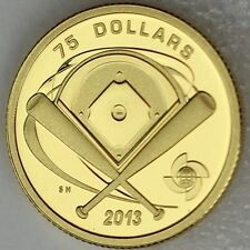 2013 $75 Diamond - World Baseball Classic Pure Gold Proof, Rare, Only 133 Sold!