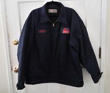 Vintage Aramark Jacket Mechanic Valvoline Navy Blue Size 2XL Craig Patch Oil Car