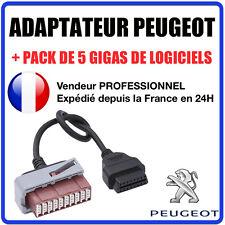 Adaptateur DIAGNOSTIQUE OBD2 - Peugeot 30 Broches - DIAG PP BOX ELM Valise OBD