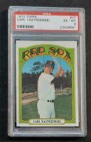 """1972 Topps #37 Carl Yastrzemski 📀 PSA 6 📀 """"The Yaz"""" HOF&Boston Red Sox Legend"""