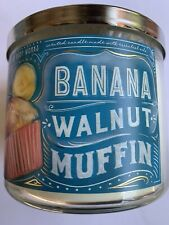 Bath & Body Works Banana Nut Muffin 3 Wick Candle