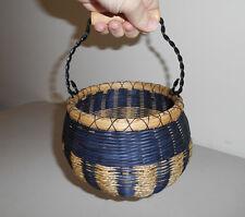 Navy BEAN POT Basket - Handmade Woven Basket