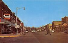 West Branch Michigan~Houghton Avenue~Model Restaurant~Hardware~1960s Cars~PC