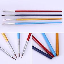 4 Pcs Acrylic Nail UV Gel Brushes Paint Drawing Pen Colorful Nail Art Tools Kit