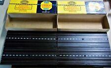 "AURORA VINTAGE SLOT CAR TRACK 12 PCS IN 2 ORIGINAL BOXES #1517 STRAIGHT 9"" TYCO"
