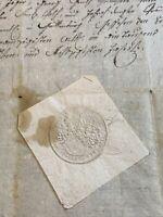 SEALED MARRIAGE CONTRACT 1787    4 pages