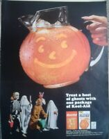 Lot of 3 Vintage 1964 KOOL-AID Drink Mix Print Ads Host of Ghosts