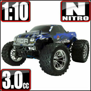 Redcat Racing Volcano S30 1/10 Scale Nitro 4WD Monster RC Truck Blue Silver *NEW