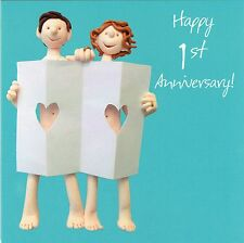 1st Wedding Anniversary Card From the One Lump or Two Collection Paper anniversa