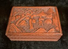 Antique Chinese Carved Cinnabar Lacquer Box 19th/20th c., Republic Period #1