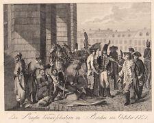 BERLIN Russen in Berlin 1760 Kupferstich von Chodowiecki 1789 Original