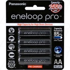 2550MAH Panasonic Eneloop Pro 4PK AA Batteries , recharged up to 500 times