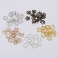 200pcs 7/9mm Charm Flower Petal Bead Caps Bulk End Spacer For DIY Jewelry Making