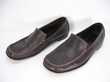 DONALD J PLINER BOSS BROWN LEATHER SLIP ON LOAFERS SHOES MEN'S 12 M