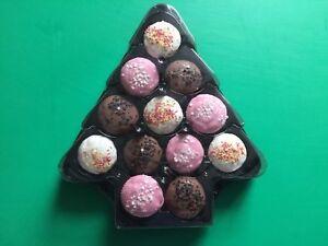 Christmas Tree Cupcake Platter Holder Bath Bomb Display Box Pack of 10