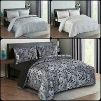 New Luxury Jacquard Paisly DuvetSet Quilt Cover Bedding & Pillowcase Double King