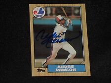 HOF ANDRE DAWSON 1987 TOPPS SIGNED AUTOGRAPHED CARD #345 MONTREAL EXPOS
