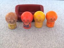 Fisher Price Vintage Hasbro?  Figures Finger Puppets ?  Hasbro 1973 Couch Lot T3