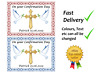 Confirmation Red or Blue cake topper edible A4 A3 Icing Wafer Rectangle