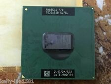 1PC Intel Pentium pm770 M PM 770 2.13G SL7SL SL7SP SL868 PGA CPU Free shipping