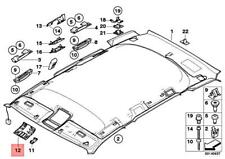 Genuine BMW X3 E83 X3 2.0d 2.0i 2.5i 3.0d Front Headlining Cover 51443404028