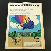 VTG High Fidelity Music Magazine March 1968 - Pierre Boulez Composer Conductor