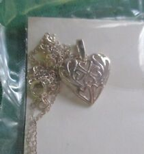 """AVON*VINTAGE*STERLING SILVER HEART PENDANT*SEALED*NIB*18""""*1994*MADE IN CANADA"""