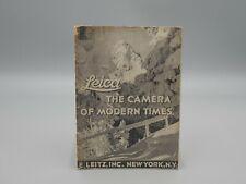 """Original 1936 """"LEICA  CAMERA & LENSE"""" Brochure"""