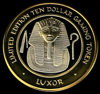 .999 $10 Silver Strike • Luxor Casino • Las Vegas • King Tut's Mask