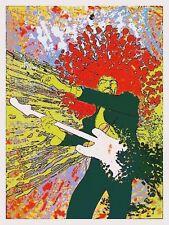 Jimi Hendrix POSTER  - VERY LARGE Amazing Colors & Artwork Fender Guitar POP ART
