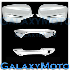 HONDA 08-12 ACCORD Coupe Chrome Mirror+2 Door Handle no passenger keyhole Cover