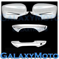 HONDA 08-12 ACCORD Coupe Chrome Mirror+2 Door Handle no passenger keyhole Cover