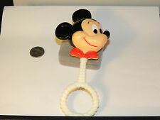 Mickey Mouse Rattle Plastic Disney By Danara over 6 inches  (4795)
