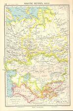 1952 MAP ASIATISCHE RUSSIA WEST SOZIALIST FERERATED SOWJETISCH KAZAK KIRGISEN