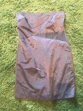 Costa Blanca Brown Cotton Blend Stapless Mini Club Dress Size Medium