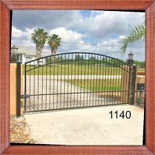 Driveway Gate # 1140 12 Ft Wd Inc Post Pk Wrought Iron Style Steel Home Security